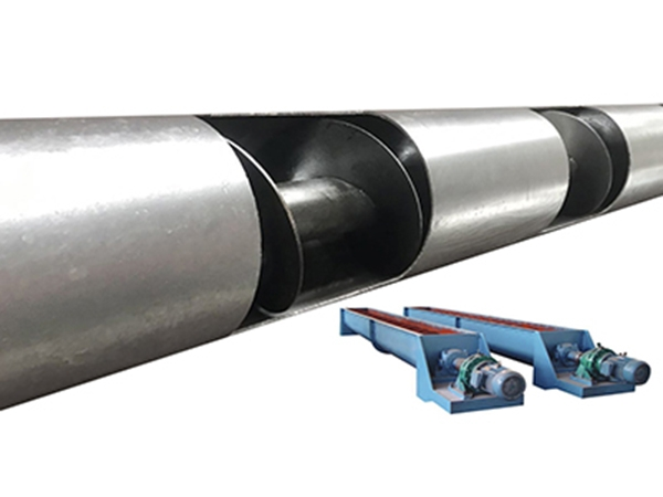 Tubular axial screw conveyor