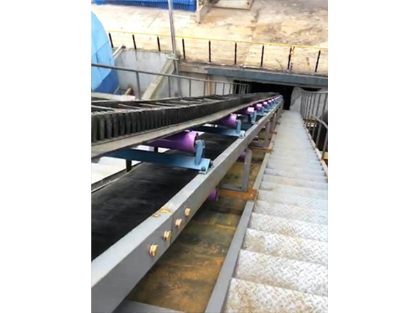 Meixinda Changhe thermal power slag conveying system (Application of flat belt  large inclined belt)